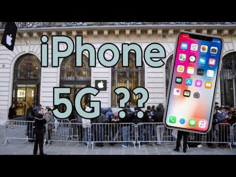 l'iPhone compatible 5G n'arriverait pas avant 2020  DQJMM (1/2)