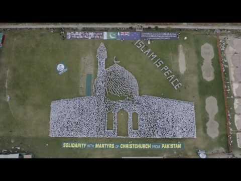 Human chain in homage of Christchurch Al Noor mosque massacre
