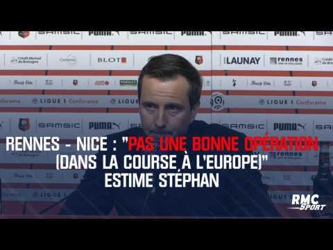 """Rennes - Nice : """"Pas une bonne opération (dans la course à l'Europe)"""" estime Stéphan"""