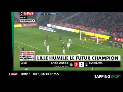 Zap sport du 15 avril : Lille humilie le PSG (vidéo)