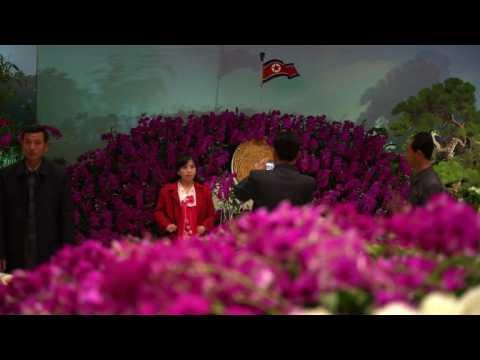 North Korea celebrates Kim Il Sung's birthday with flower show