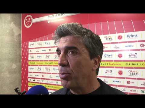 Football. Réaction de David Guion après Reims - Saint-Etienne (0-2)