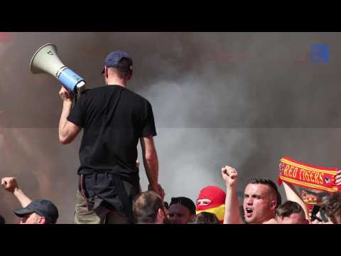RC Lens : le show des supporters à Grenoble