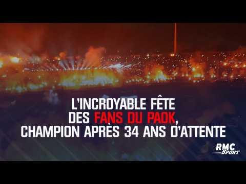 L'incroyable fête des fans du PAOK, champion après 34 ans d'attente