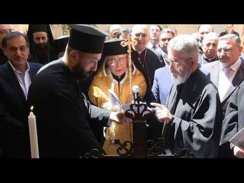 Roman Catholic Church re-opens in the old city of Aleppo