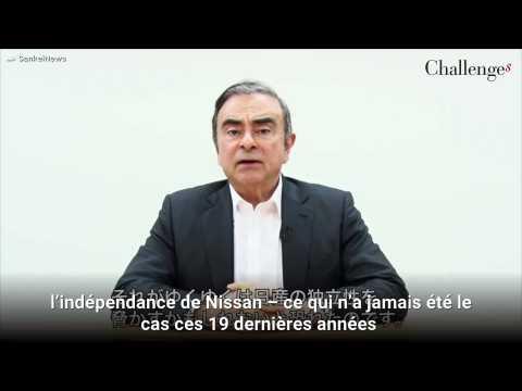 Renault-Nissan : Carlos Ghosn clame son innocence et se dit victime d'un complot