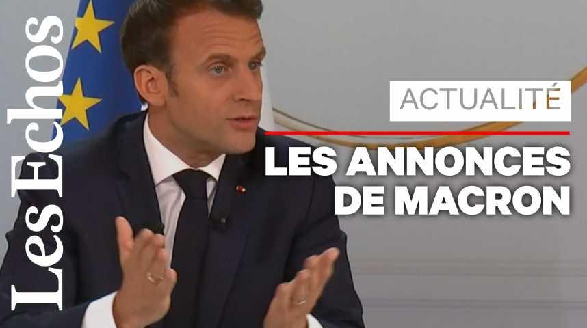 Illustration pour la vidéo Grand débat : 3 grandes annonces d'Emmanuel Macron