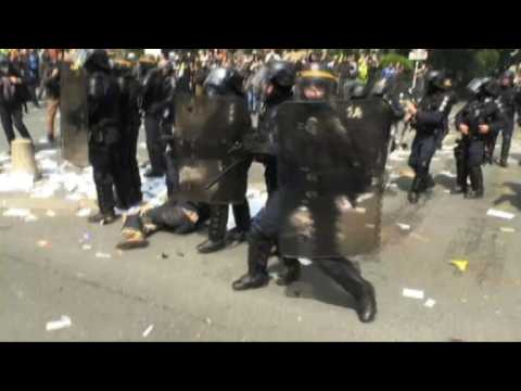 First arrests and injuries on May Day in Paris