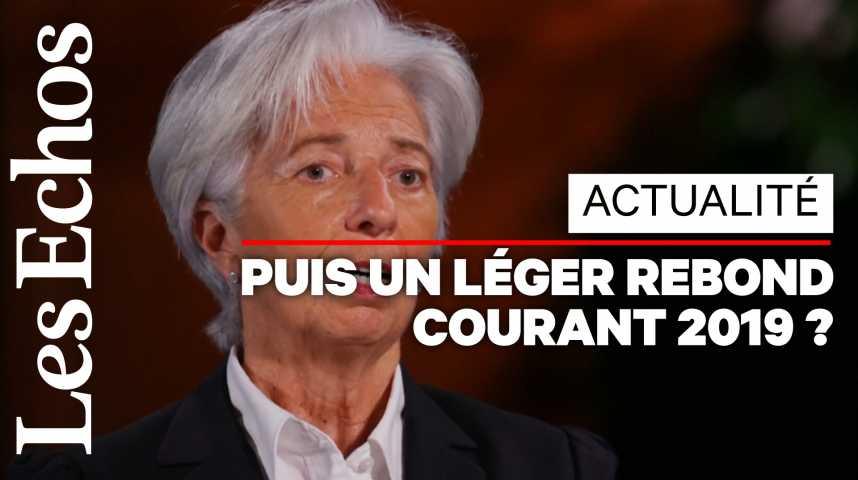Illustration pour la vidéo Christine Lagarde (FMI) : « 70% de l'économie mondiale va ralentir cette année »