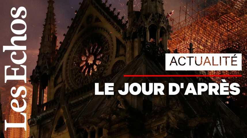 Illustration pour la vidéo Incendie à Notre-Dame : la structure de la cathédrale a pu être sauvée