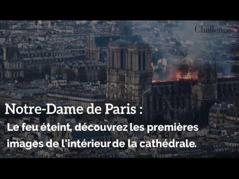 Le feu éteint, découvrez les premières images de l'intérieur de la cathédrale.