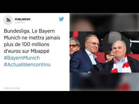 Bundesliga. Le Bayern Munich ne mettra jamais plus de 100 millions d'euros sur Mbappé.