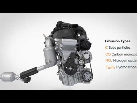 Skoda Scala - Exhaust gas aftertreatment with petrol particulate filter