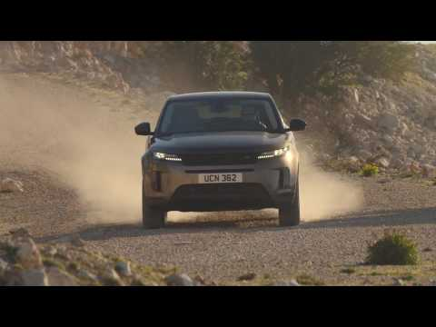 New Range Rover Evoque S derivative in Kaikoura Stone Off-road driving