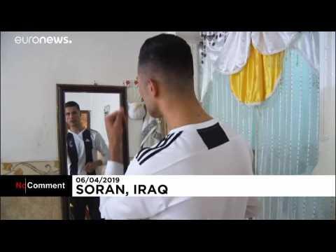 Un sosie de Cristiano Ronaldo en Irak