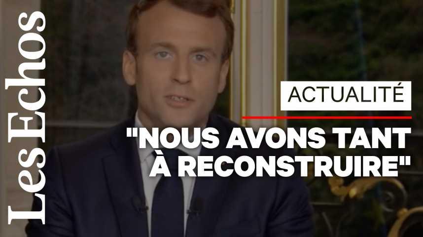 """Illustration pour la vidéo Emmanuel Macron veut rebâtir Notre-Dame """"d'ici 5 années"""""""