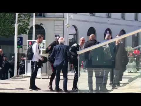 Nantes. L'arrivée des joueurs du PSG à leur hôtel