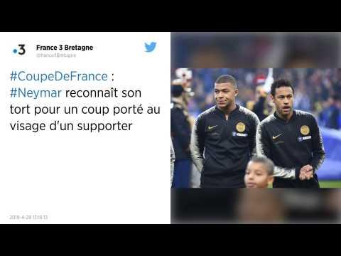 Rennes - PSG : Neymar reconnaît son tort après l'incident avec le supporter
