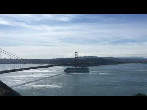 Coronavirus: virus-hit cruise ship approaches Golden Gate Bridge, prepares to dock