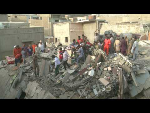 Deadly building collapse in Pakistan