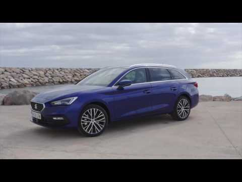 The all-new Seat Leon Sportstourer XCellence Mistery Blue Drone video