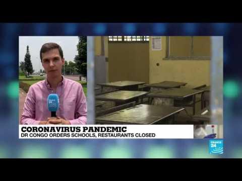 Coronavirus outbreak: A dozen confirmed cases in DR Congo, schools, restaurants closed