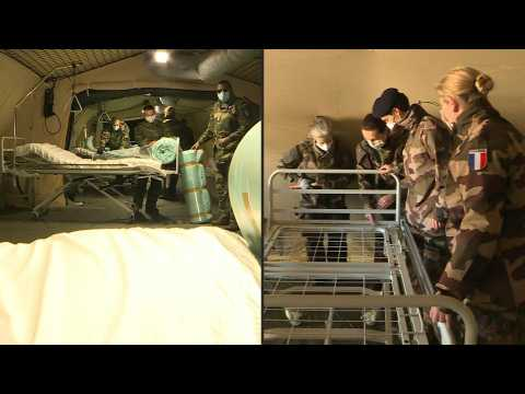 Images inside army field hospital in Mulhouse, coronavirus hotspot