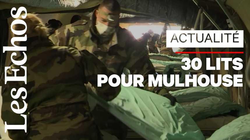 Illustration pour la vidéo Mulhouse : l'hôpital de campagne va être testé ce lundi