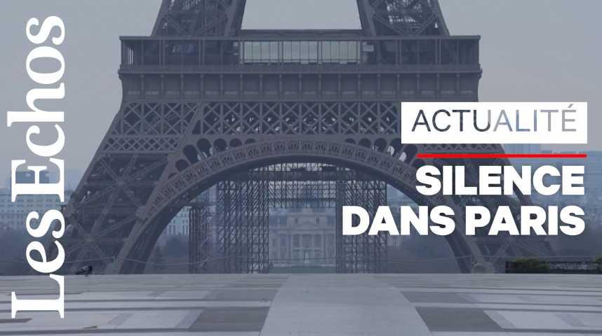 Illustration pour la vidéo Paris plongée dans le silence... et bercée par les chants d'oiseaux