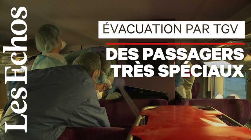 Illustration pour la vidéo Evacuer les malades par TGV : 1er test réussi