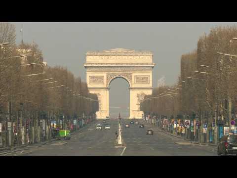Coronavirus: Champs-Elysees lies empty on 12th day of lockdown