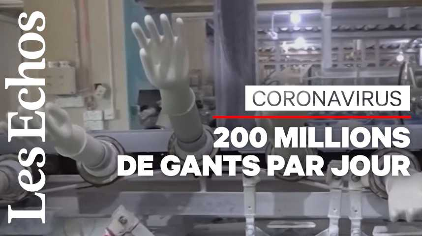 Illustration pour la vidéo Coronavirus : le premier fabricant de gants au monde débordé par la demande