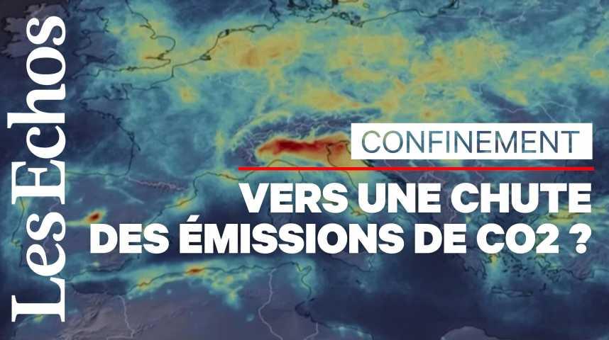 Illustration pour la vidéo Le confinement devrait provoquer une baisse des émissions de CO2