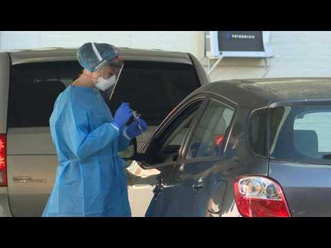 Drive-through coronavirus testing site opens in downtown Washington