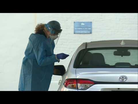 New drive-through coronavirus testing site opens in Washington DC