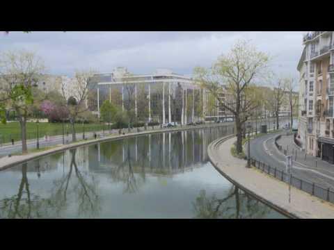 Coronavirus: Paris' Canal Saint-Martin deserted on 21st day of lockdown