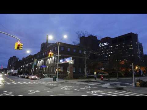 Empty streets amid coronavirus lockdown in New York City