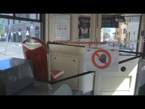 Rome implements social distancing measures in its public transport system