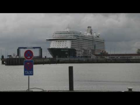Cruise ship under quarantine in Cuxhaven
