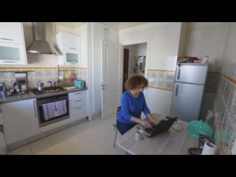 Tunis residents work from home due to Covid-19