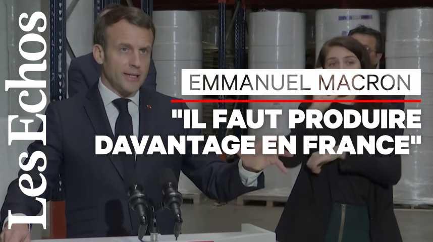 Illustration pour la vidéo Produits stratégiques : Macron veut une souveraineté européenne