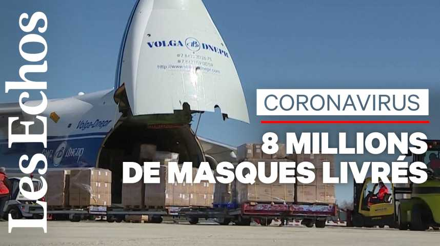 Illustration pour la vidéo 8 millions de masques arrivés en France