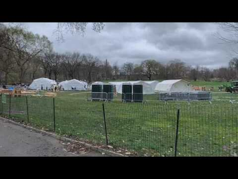 A field hospital in Central Park against COVID-19