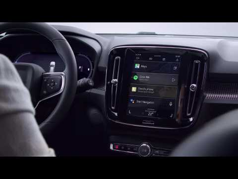 Presentation of the New Volvo XC40 Recharge Infotainment System