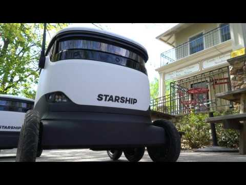 Delivery robots make ordering groceries 'easy-peasy' during COVID-19 lockdown