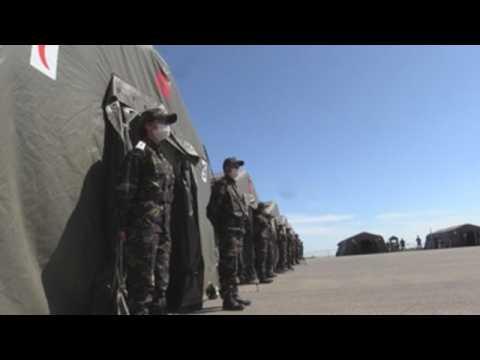 Morocco's Armed Forces set up field hospital in Benslimane