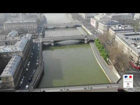 Coronavirus: A bird's-eye view of deserted central Paris on day 29 of lockdown