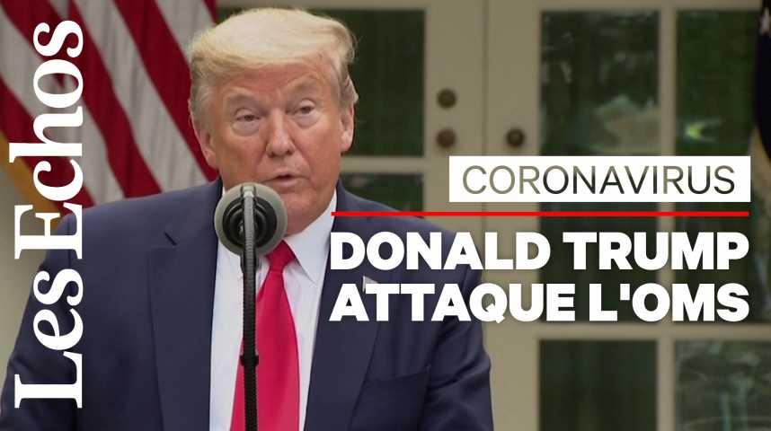 Illustration pour la vidéo Donald Trump suspend le financement américain à l'OMS