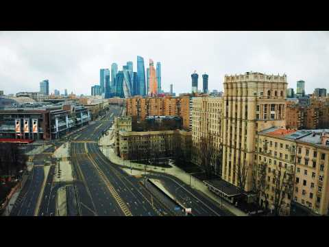 Drone images of empty Moscow streets amid COVID-19 pandemic