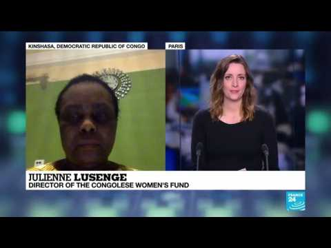 Julienne Lusenge on France 24 for the International Women's Day